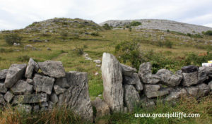 stone wall in the Burren dark graveyard illustrating an article about the Tuam Babies Scandal