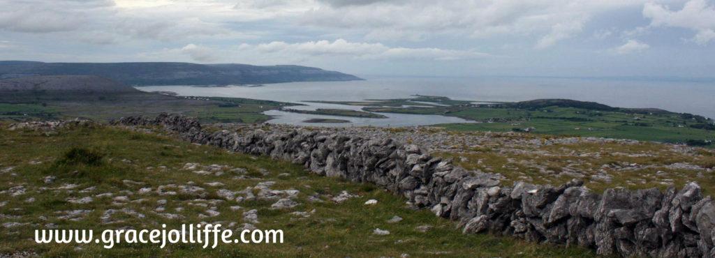 View of beautiful Irish bay illustrating an article about walking by writer, Grace Jolliffe