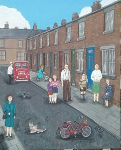 painting of a 1970s Liverpool Street in a post about Liverpool Nostalgia