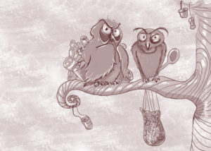 cartoon drawing of funny birds a page with funny stories for kids